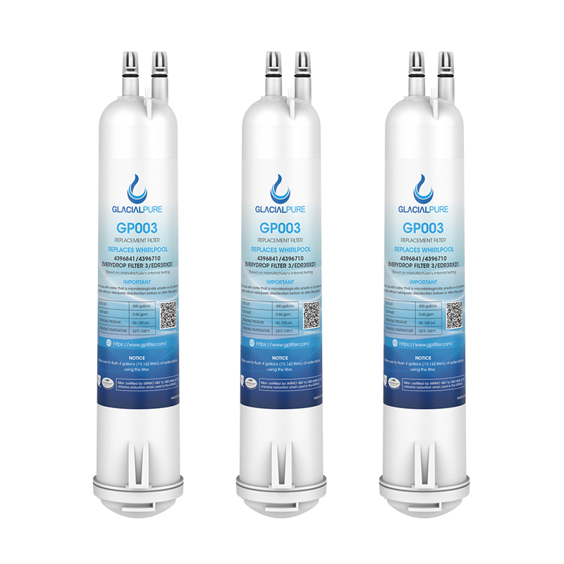 3pk 4396710 EDR3RXD1 4396841 Water Filter 3 Replacement by Glacial-Pure