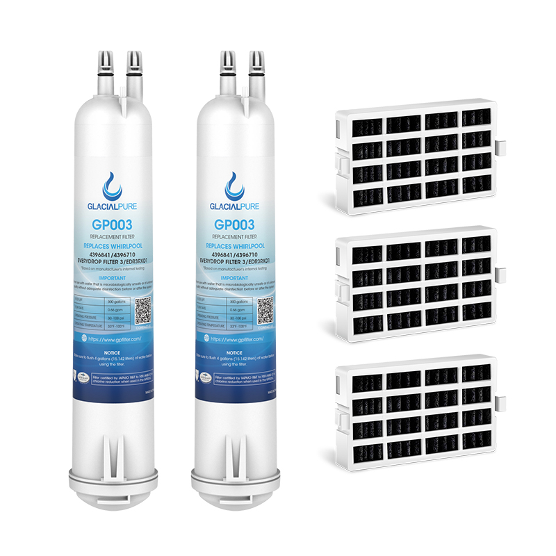 GlacialPure 2Pk Filter3,4396841, EDR3RXD1, 46-9083 with Air filter
