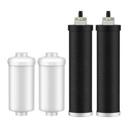 MoreFilter BB9-2 & PF-2 Replacement for Black Berkey Filters (BB9-2) & Berkey Fluoride Filters (PF-2) Combo Pack