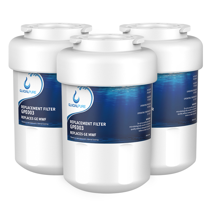 GlacialPure MWF GWF GE Refrigerator Water Filter Replacement 3 Pack