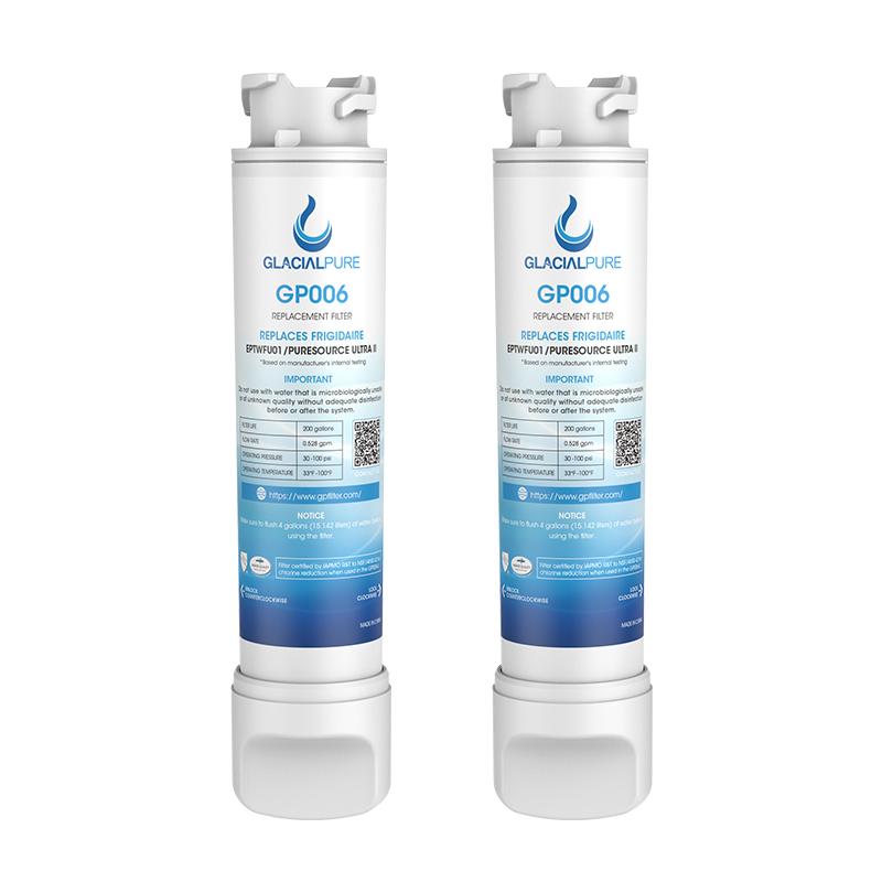 GlacialPure 2Pack EPTWFU01 Refrigerator Water Filter